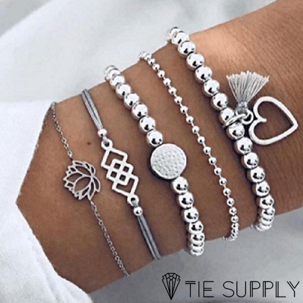 silver-heart-bracelet-set-main